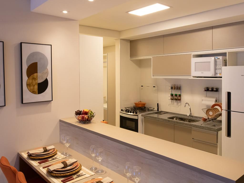 Cozinha integrada (2 dorms)